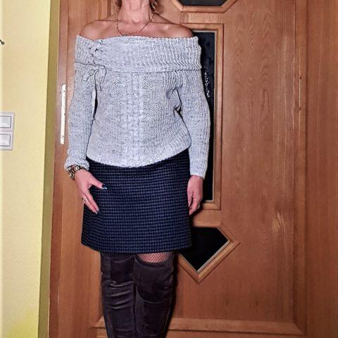 Pullover im trendigen Grobstrick – Look