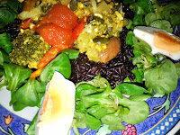 Schwarzer Reis mit Gemüse