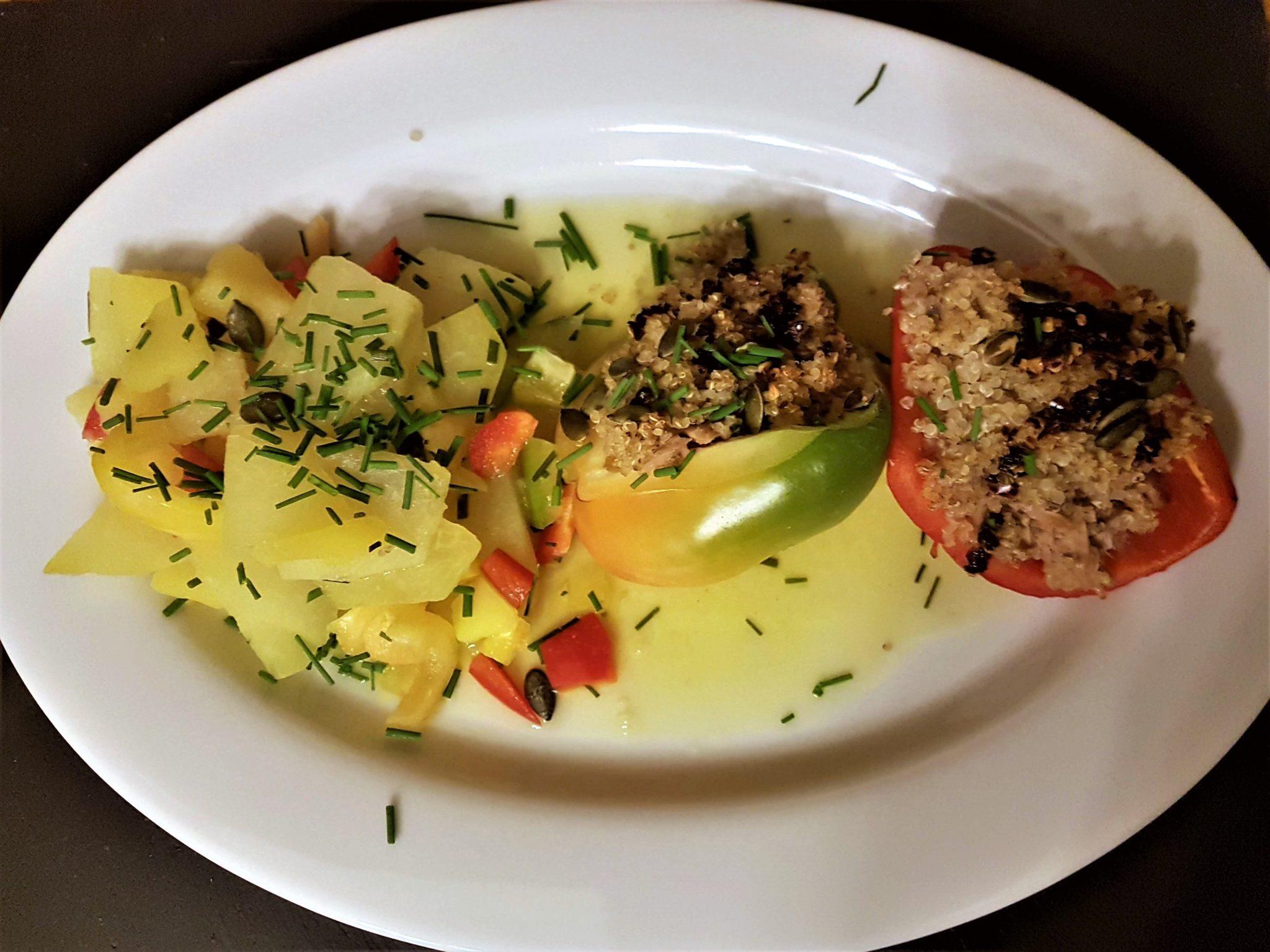 Kohlrabi-Rezept; Kohlrabi-Gemüse, gefüllte Paprika,