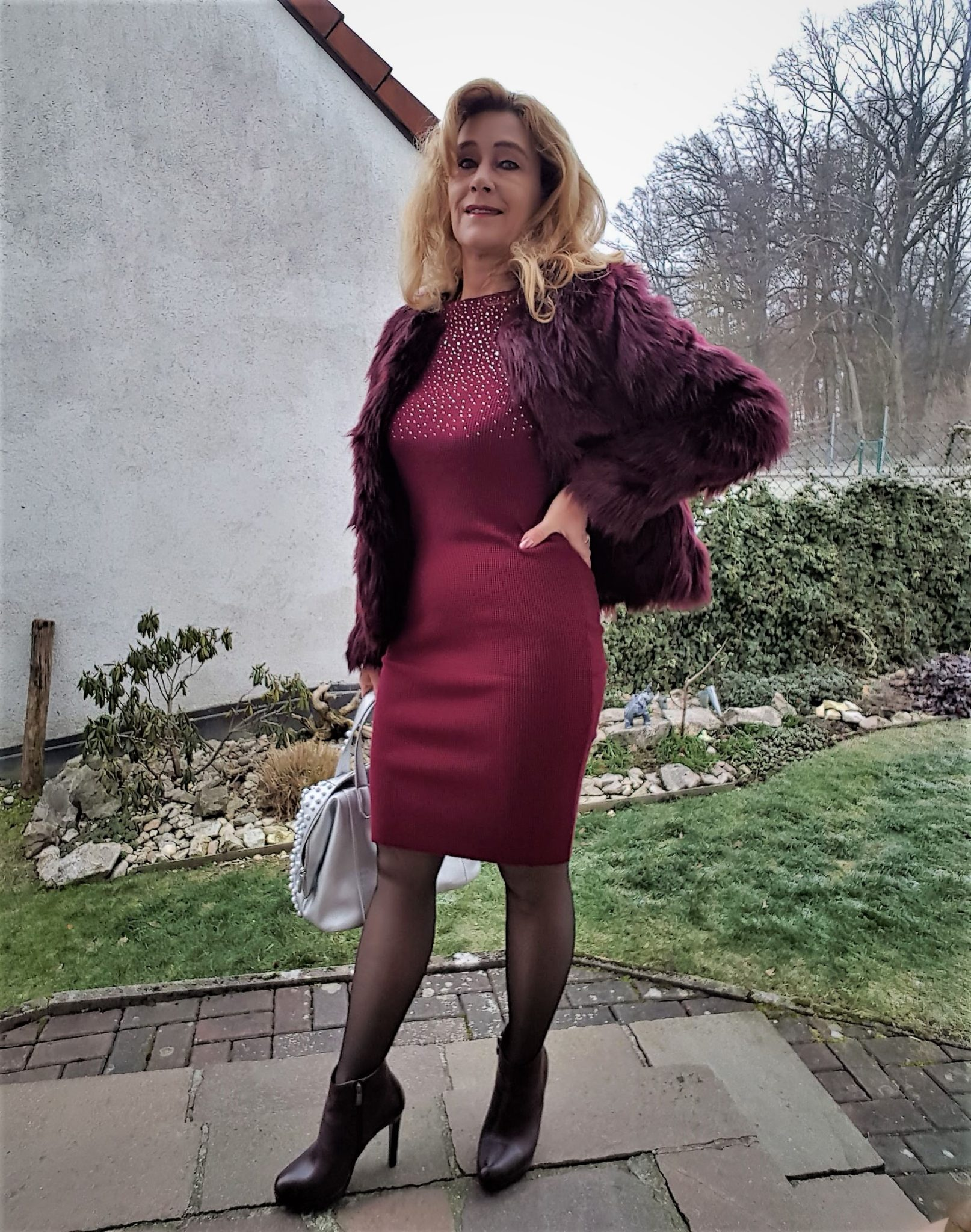 Rippstrick Kleid, angesagte Kleider