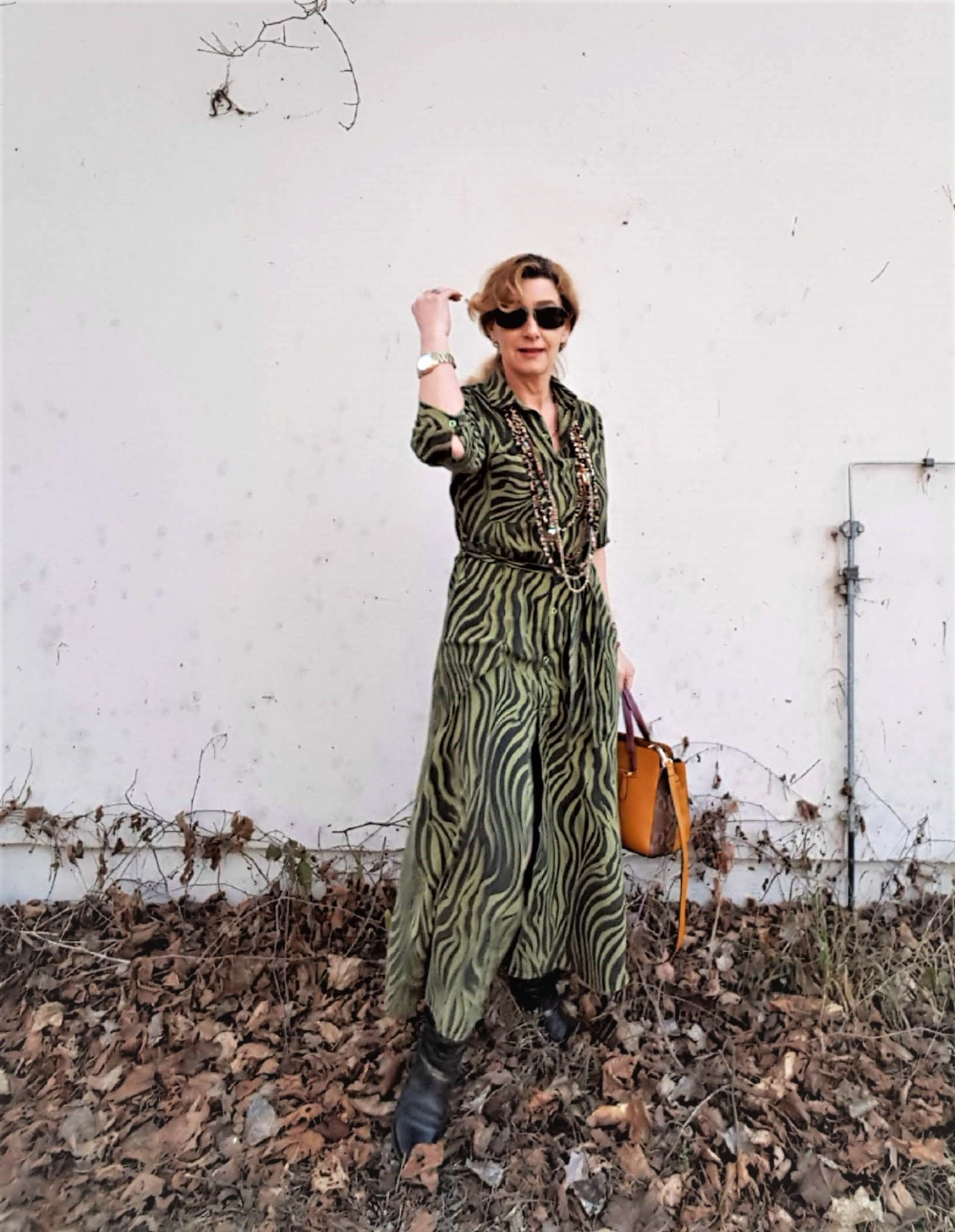 Kleid im Utiity-Style, Trend grüne Maxikleider