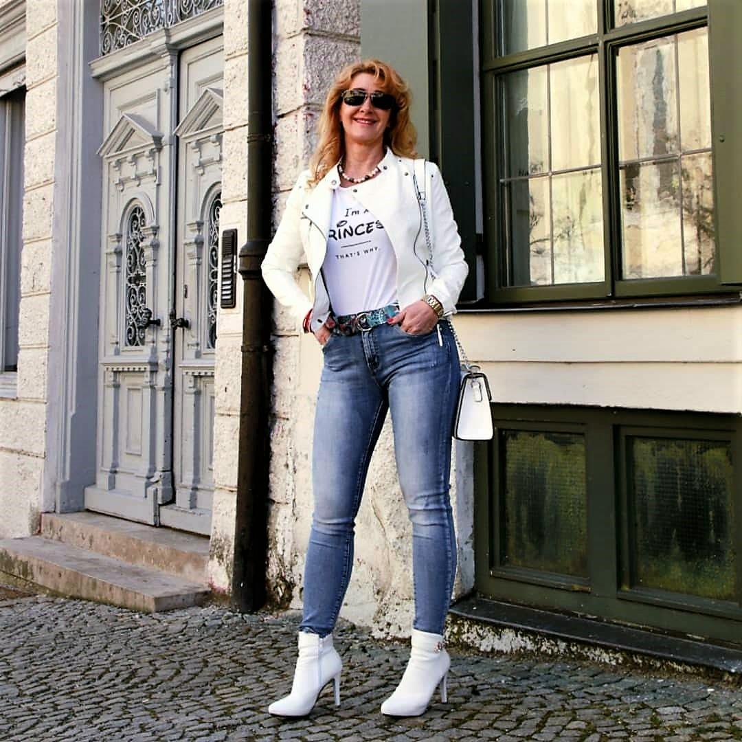 Trend weiße Lederjacken
