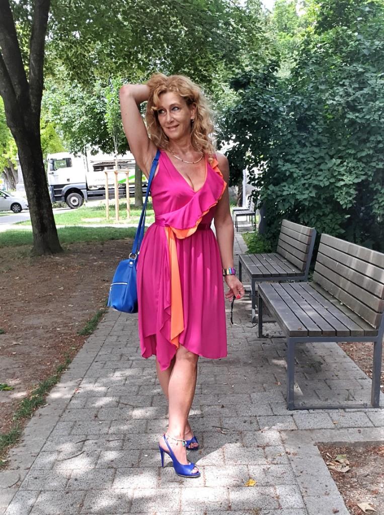 """Kleid mit Colo-Blocking von """"RINASCIMENTO"""""""